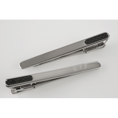 Stainless Steel Detailed Tie Clip
