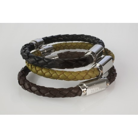 0a00f98d3 Personalised Men's Plaited Leather Bracelet - Capture and Keep