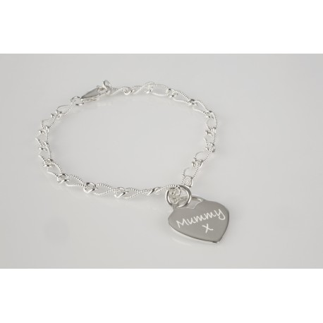 Satin Twisted Bracelet with Personalised Charm