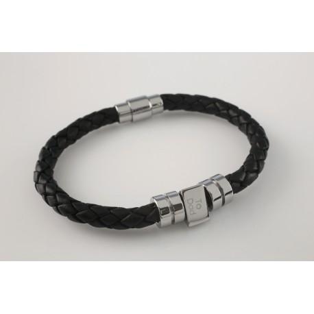 Personalised Men's Leather Birthday Bracelet