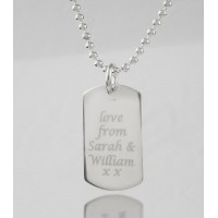 Medium Dog Tag with Message