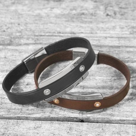 Personalised Luxury Leather Bracelet