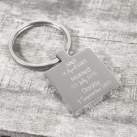 Personalised Memorable Date Keyring
