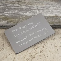 Credit Card Personalised Message Keepsake