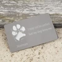 Credit Card Pet Paw Print Keepsake