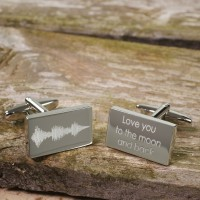 Personalised Soundwave Cufflinks