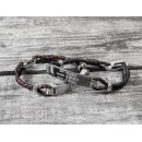 Born, Married, Daddy Leather Bracelet
