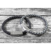 Personalised Brushed Steel Hidden Message Bracelet