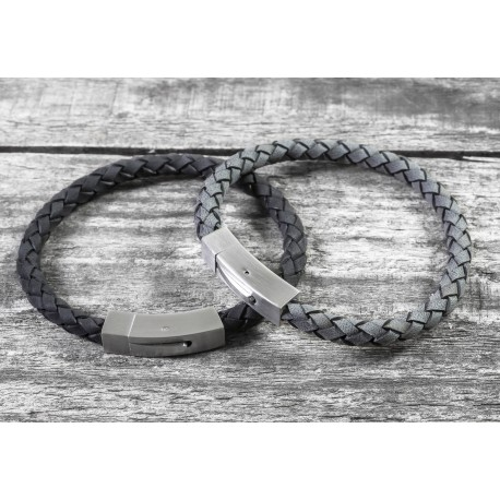 72a27cfa74959 Personalised Brushed Steel Hidden Message Bracelet - Capture and Keep