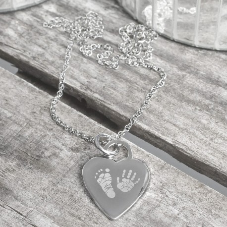 Personalised Hand or Foot Print Necklace
