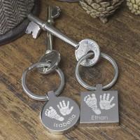 Personalised Print Engraved Stainless Steel Keyring