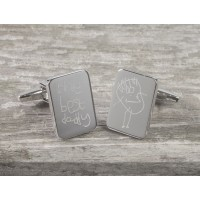 Personalised Engraved Drawing Cufflinks