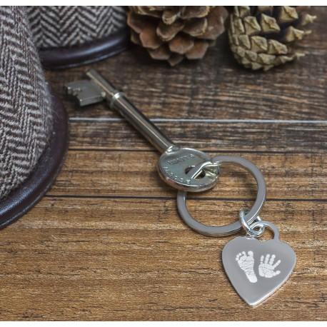 Personalised Heart Handprint Keyring