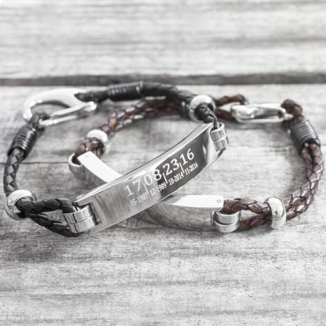 Personalised Date ID Men's Bracelet
