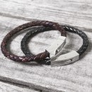 Personalised Hidden Date Leather Bracelet