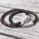 Personalised Hidden Date Leather Bracelet