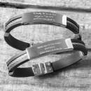 Birth Message Bracelet for Men