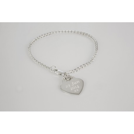 Spiga Chain Bracelet with personalised Charm