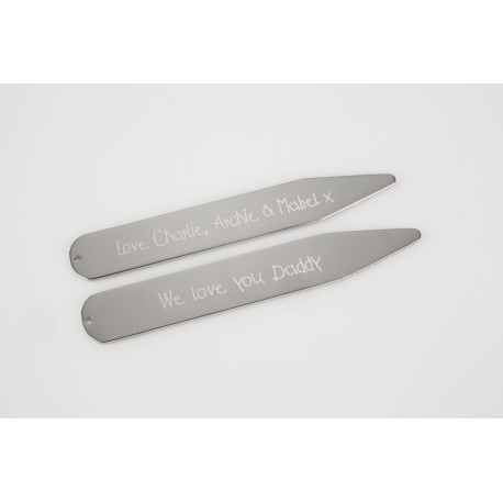 Personalised Message Collar Stiffeners
